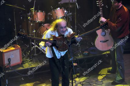 John Otway and Deadly thr Roadie performing at The Haunt, Brighton, UK on 7th October 2018 as support on Jilted John's 40th Anniversary tour