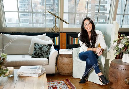 "Joanna Gaines poses for a portrait at the Gotham Hotel in New York to promote her book ""Homebody: A Guide to Creating Spaces You Never Want to Leave"