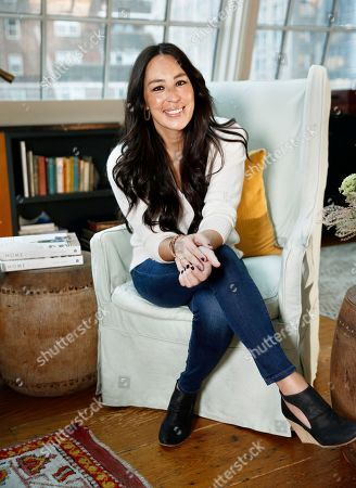 """Joanna Gaines poses for a portrait at the Gotham Hotel in New York to promote her book """"Homebody: A Guide to Creating Spaces You Never Want to Leave"""