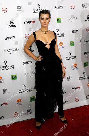 Stock Photo of Tuba Buyukustun arrives for the 46th International Emmy Awards Gala at the New York Hilton hotel in New York, New York, USA, 19 November 2018.