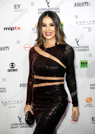 Catherine Siachoque arrives for the 46th International Emmy Awards Gala at the New York Hilton hotel in New York, New York, USA, 19 November 2018.