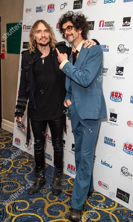 Stock Image of Justin Hawkins and Frankie Poullain from The Darkness