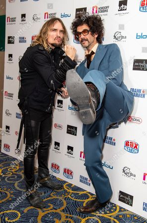 Stock Photo of Justin Hawkins and Frankie Poullain from The Darkness