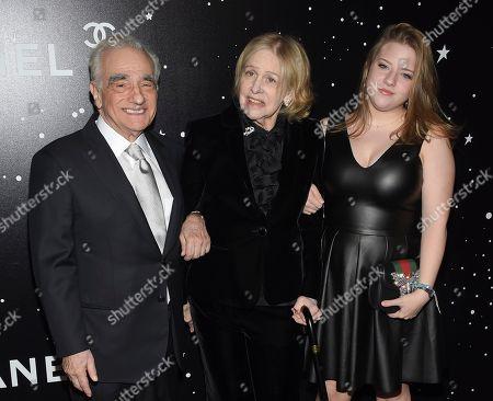 Martin Scorsese, Helen Morris, Francesca Scorsese.