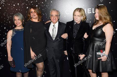 Domenica Cameron-Scorsese, Cathy Scorsese, Martin Scorsese, Helen Morris, Francesca Scorsese