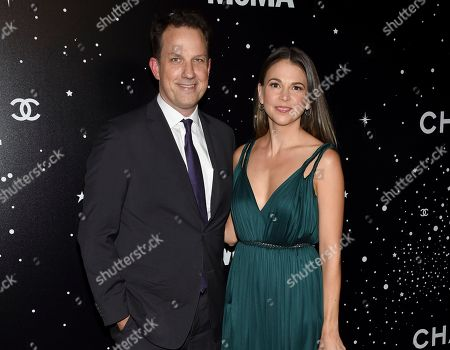 Ted Griffin, Sutton Foster. Producer Ted Griffin, left, and wife actress Sutton Foster attend the Museum of Modern Art Film Benefit tribute to Martin Scorsese, presented by Chanel,, in New York