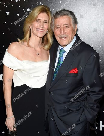 Susan Benedetto,Tony Bennett. Singer Tony Bennett and wife Susan Benedetto attend the Museum of Modern Art Film Benefit tribute to Martin Scorsese, presented by Chanel,, in New York