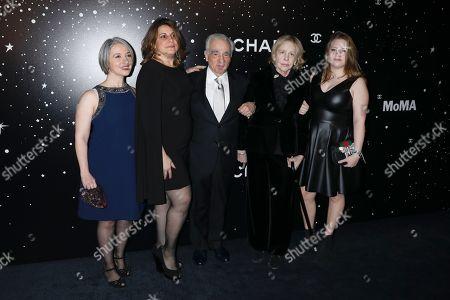 Martin Scorsese, Helen Morris and Francesca Scorsese