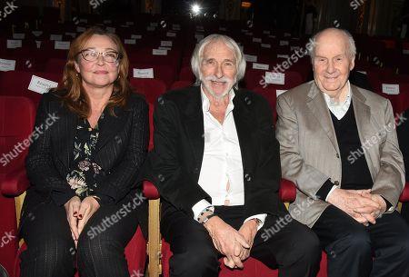 Catherine Frot, Jane Birkin and Michel Bouquet