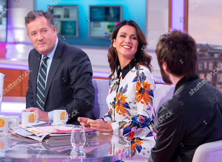 Piers Morgan, Susanna Reid and James Buckley