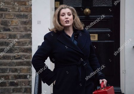 Penny Mordaunt out and about, London