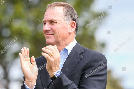 Former New Zealand Prime minister John Key during the Final Round of the World Cup Of Golf.