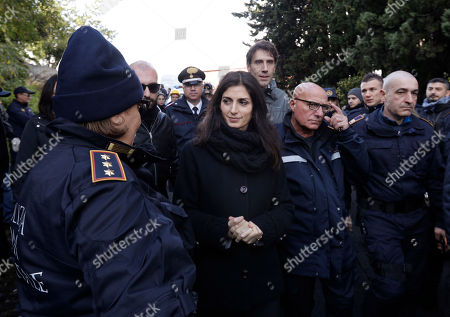Police raid on property owned by the Casamonica mafia, Rome