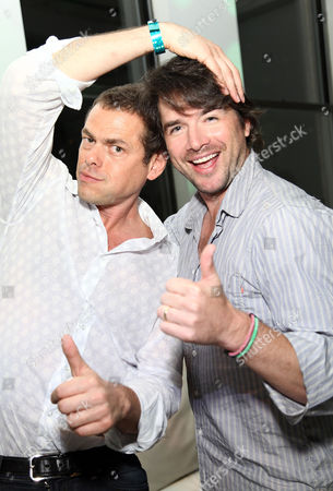Vince Offer (The Sham-Wow guy) and Matthew Settle