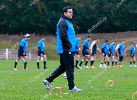 Will Carling, the former England captain, who is helping out with the current team in a mentoring role