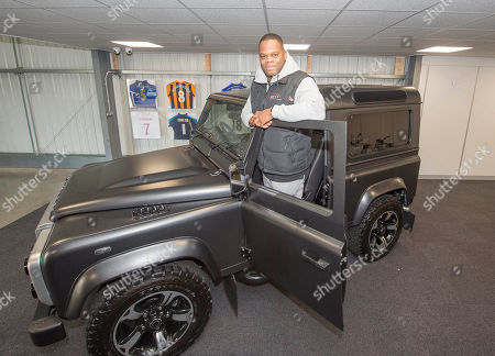 Marlon Harewood Co-owner Of Ac13 Premier A Vehicle Wrapping Company In Nottingham. Football Feature Ex-footballer Marlon Harewood Nottingham. Picture: Graham Chadwick.