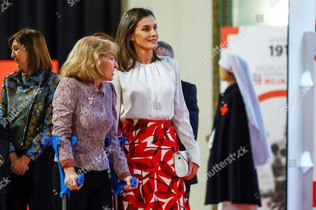 Queen Letizia attends centenary celebration of the Red Cross nursing school and hospital, Madrid