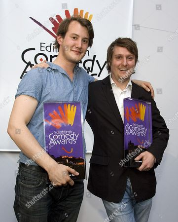 Edinburgh comedy awards - Best newcomer Jonny Sweet (left) and Best comedy show winner Tim Key