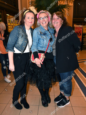 Editorial photo of Bananarama Fans (l Rot R) Joanne Jones 37 Alison Grundy 32 And Leah Wright 39. - 80's Pop Band 'bananarama' Perform At The Blackpool Opera House Blackpool Lancs At The Start Of Their Uk Tour.