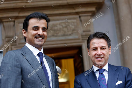 Italian Prime Minister Giuseppe Conte meets the Emir of Qatar, Rome