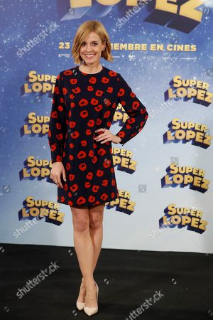 Alexandra Jimenez poses during the presentation of the film 'Superlopez' in Madrid, Spain, 20 November 2018. The film is based in the Spanish comics that narrate the adventures of the Spanish Superman created by Spanish cartoonist in Jan 1973.