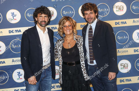 Damiano Tommasi, Manuela Ronchi and Demetrio Albertini