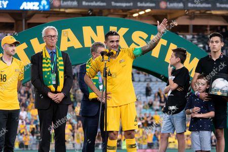 Editorial photo of Australia v Lebanon, International friendly football match, ANZ Stadium, Sydney, Australia - 20 Nov 2018
