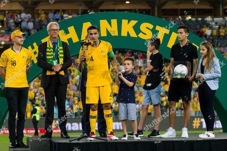 Editorial image of Australia v Lebanon, International friendly football match, ANZ Stadium, Sydney, Australia - 20 Nov 2018