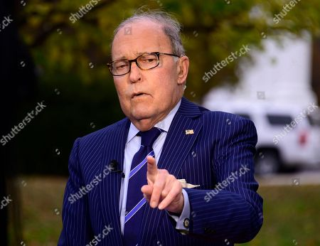 Larry Kudlow speaks with reporters, Washington DC