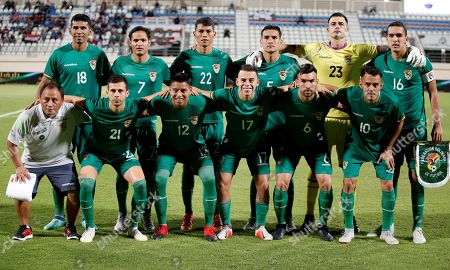 022e898ab Bolivia national team poses during their friendly soccer match in Al Ain
