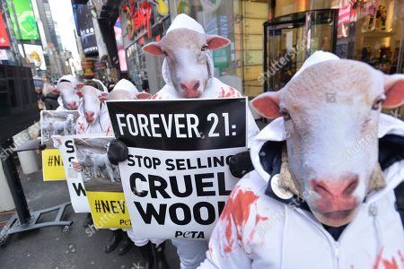 PETA protest in Times Square, New York