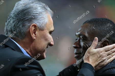 Tite Head coach of Brazil and Clarence Seedorf Head coach of Cameroon
