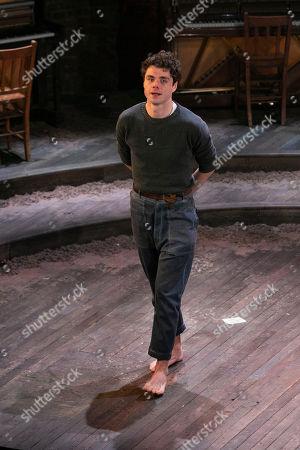 Matthew Needham (John Buchanan) during the curtain call