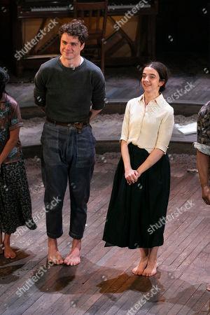 Matthew Needham (John Buchanan) and Patsy Ferran (Alma) during the curtain call