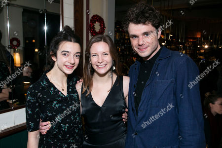 Patsy Ferran (Alma), Rebecca Frecknall (Director) and Matthew Needham (John Buchanan)