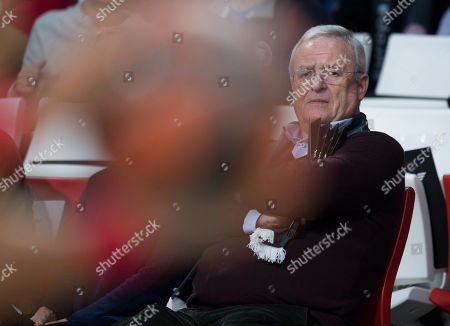 Stock Photo of Former chairman of the board of directors of Volkswagen AG, Martin Winterkorn during the Euroleague basketball match between FC Bayern Munich and Olympiacos Piraeus in Munich, Germany, 20 November 2018.