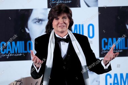 Camilo Sesto poses during the presentation of his latest album 'Camilo Sinfonico' in Madrid, Spain, 20 November 2018.