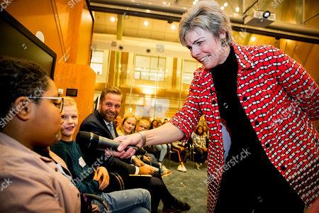 Princess Laurentien attends a National Council of Children event, The Hague