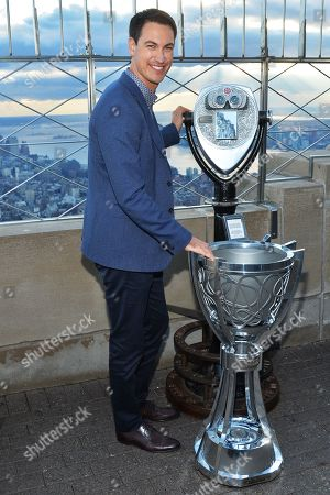 Joey Logano lights the Empire State Building, New York