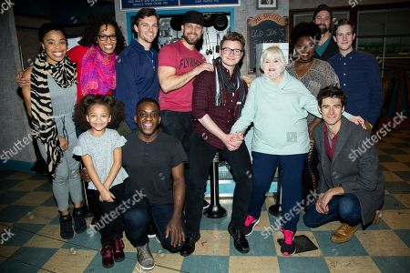 Chris Colfer, June Squibb, and the cast of 'Waitress'