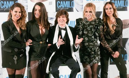Stock Picture of Pastora Soler, Ruth Lorenzo, Camilo Sexto, Marta Sanchez and Monica Naranjo