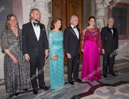 Caroline Reisch, Bengt Gomér, Queen Silvia, King Carl Gustaf, Nina Stemme, Rutbert Reisch