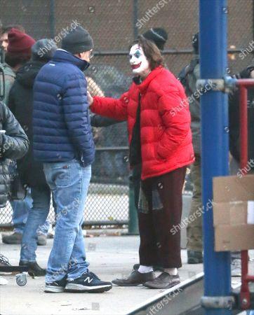 'Joker' on set filming, New York