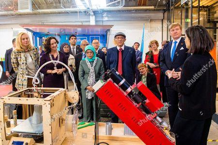 King Willem-Alexander and Femke Halsema with The President of Singapore, Halimah Yacob and her husband Mohamed Abdullah Alhabshee