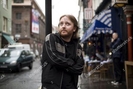 Editorial photo of Chris McCausland in Soho, London, Britain - 21 Jul 2009