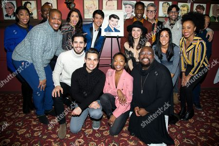 Telly Leung and the cast of ALADDIN