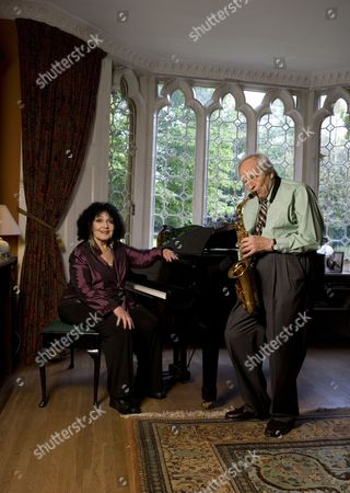 Editorial picture of Cleo Laine and John Dankworth at home in Wavendon, Britain - 21 May 2009