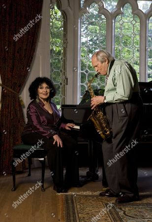 Editorial image of Cleo Laine and John Dankworth at home in Wavendon, Britain - 21 May 2009