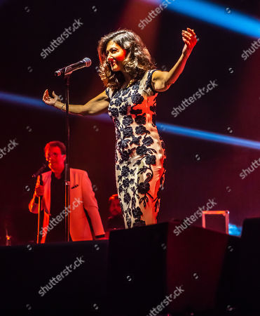 Countess Alexandra of Frederiksborg on stage performing 'Wash me away' for the first time, Malmö Arena 10 year anniversary