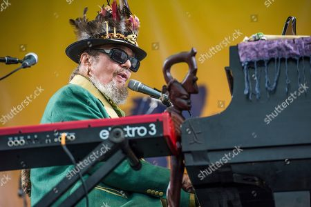 """Dr. John, Malcolm John """"Mac"""" Rebennack. Dr. John performs at the New Orleans Jazz and Heritage Festival in New Orleans. The New Orleans-born musician celebrated his 77th birthday last Nov. 21 in the French Quarter. But he was apparently a year early. Publicist Karen Beninato said she looked into it after talking to friends and relatives of the Rock & Roll Hall of Famer"""